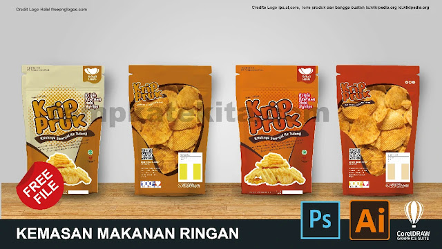 Download Contoh Desain Kemasan Makanan Kripik CorelDraw, Ai Dan PS Gratis