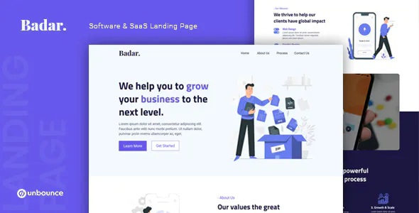 Best Software & SaaS Unbounce Landing Page Template
