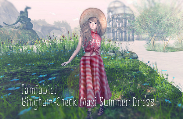 {amiable}Gingham-check Maxi Summer Dress
