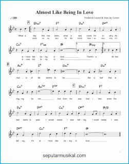 chord almost like being in love lagu jazz standar
