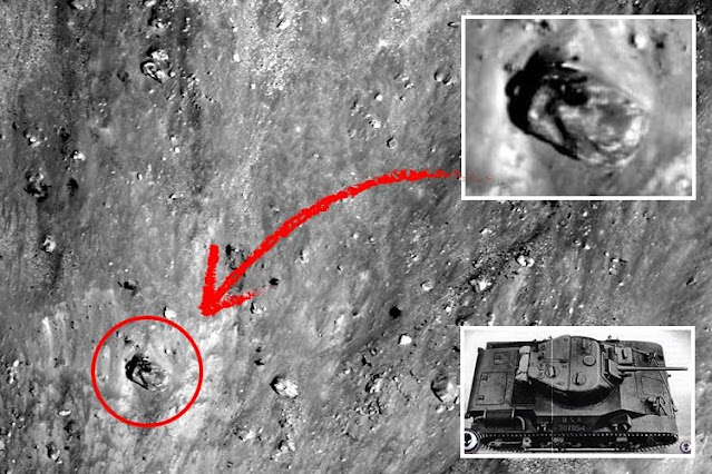 This is pretty insane if it's a tank on the Moon.