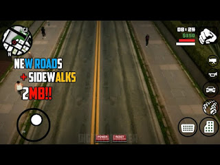 NEW ROAD + SIDEWALKS TEXTURES IN GTA SA ANDROID || ONLY 2MB ||