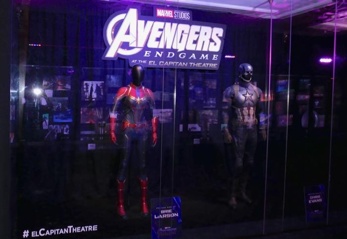 Captain Marvel America Avengers Endgame costume exhibit
