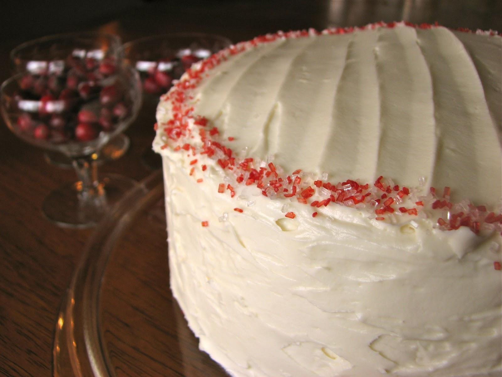 Delectably Mine Red Velvet Cheesecake Cake