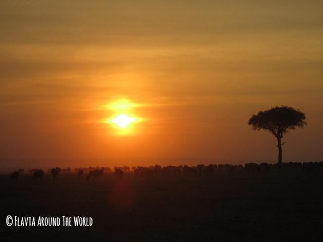 Puesta de sol en Masai Mara