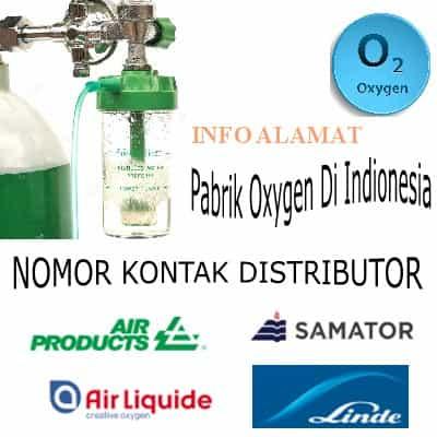 Alamat dan Nomor Telepon Pabrik Serta Distributor Gas Oxygen