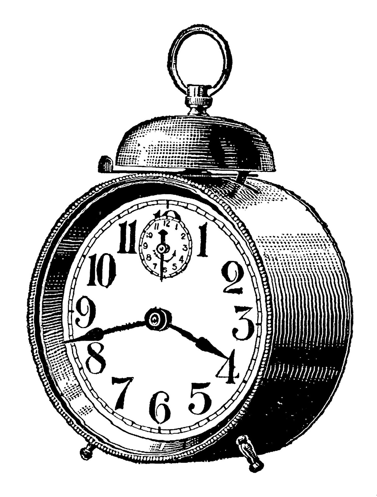Old Alarm Clock Clip Art