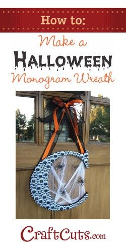 creative googly eye halloween crafts - Googly Eye Monogram Wreath