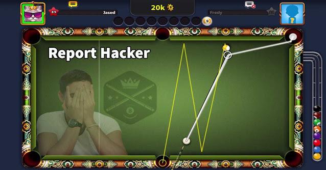 Report Hacker Cheto To Miniclip 8 ball pool