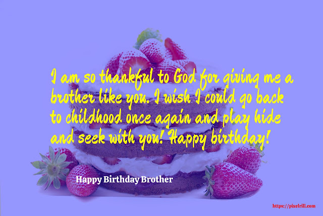 Birthday Greeting card for Brother