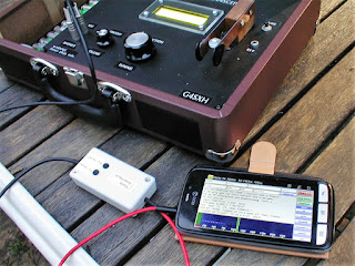 uBITX transceiver with phone and PSK interface.