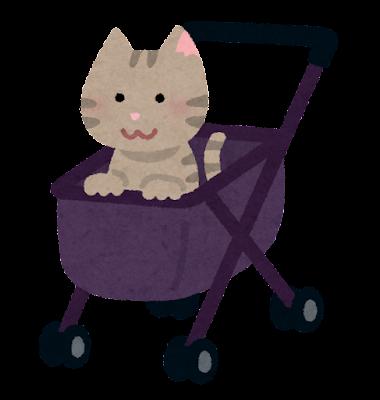 ペットカートのイラスト(猫)