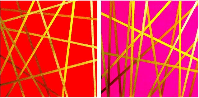 Bilder No. 270212 und No. 040312 GZ   Acryl und Acrylgold auf Leinwand, 50 x 50 cm, Dagmar  Mahlstedt