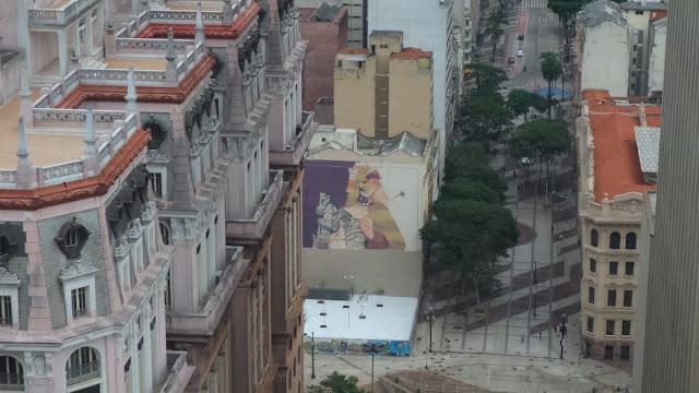 Edifício Martilnelli, visto do mirante do Farol Santander