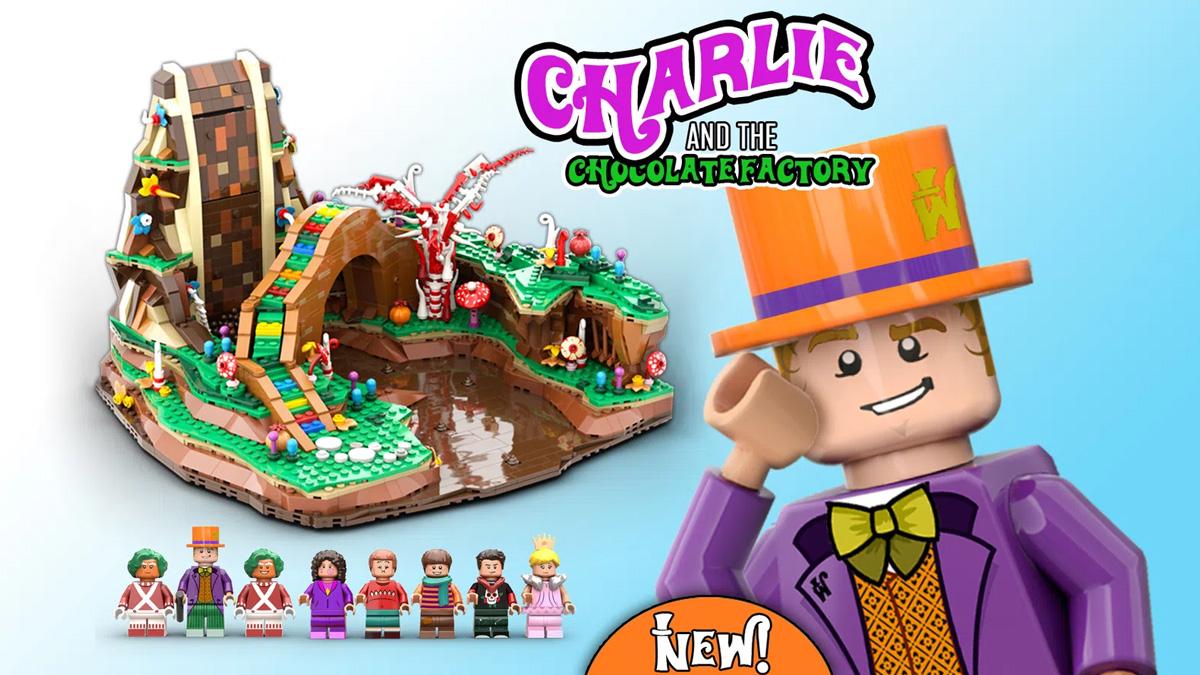レゴアイデアで『チャーリーとチョコレート工場』が製品化レビュー進出!2021年第1回1万サポート獲得デザイン紹介