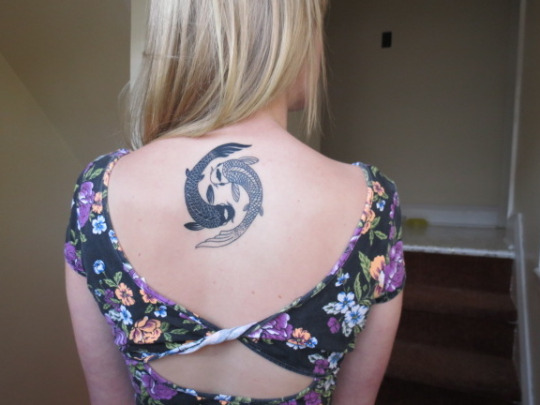 Koi Fish Tattoo Designs on Back