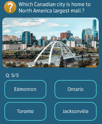 Which Canadian city is home to North America largest mall ?