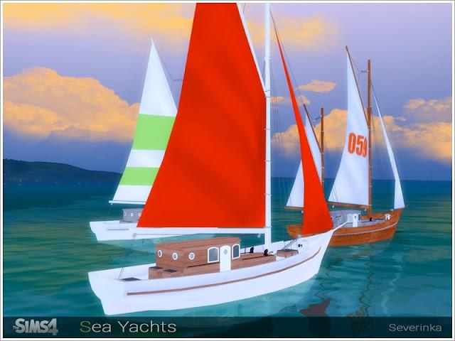 Морские яхты — декор для The Sims 4 со ссылками для скачивания