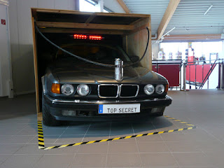 "BMW 740iL im Spionagemuseum ""Top Secret"" Oberhausen"