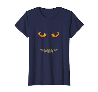 Funny haloween masks T-Shirt I See You With My Heart
