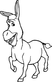 Shrek Donkey Coloring Pages For Kids