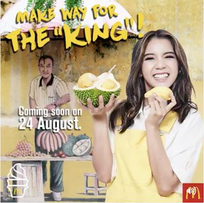 McDonald's D24 Durian McFurry Sundae Cone