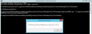 FDMEE: VBScript Error: ActiveX component can't create object: 'fdmapi.clsAppServerDM'