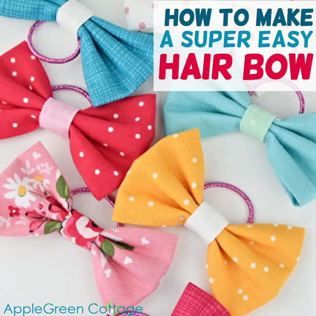 Sewing tutorial: Sweet and easy DIY hair bows