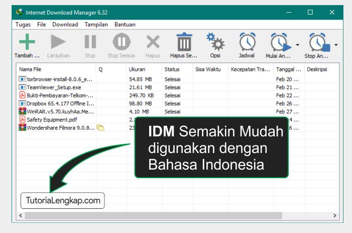 tutorialengkap 4 cara merubah bahasa aplikasi IDM internet download manager