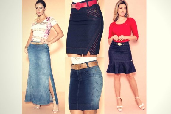 Saias Jeans Via Tolentino