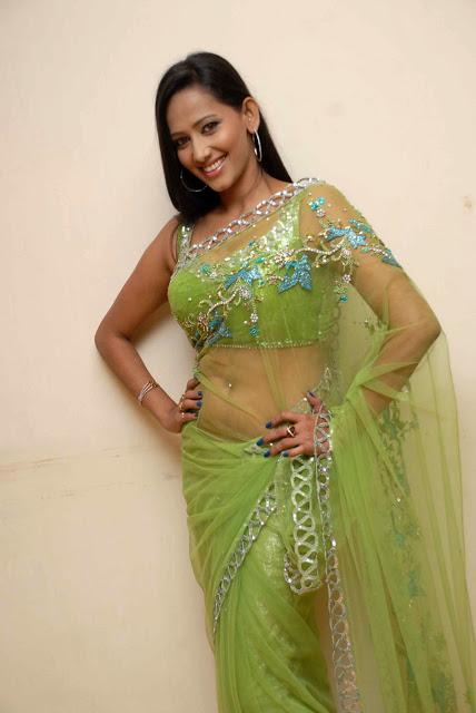 Actress Sanjana Singh Hot Green Saree Photoshoot Stills Navel Queens