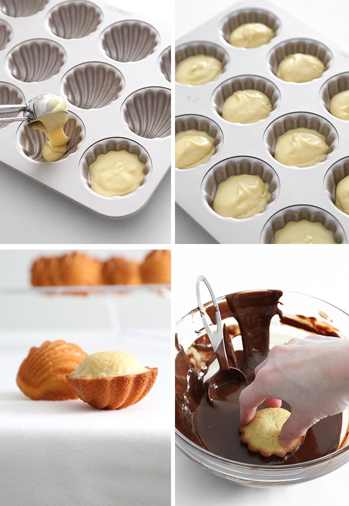Chocolate Dipped Orange Madeleines