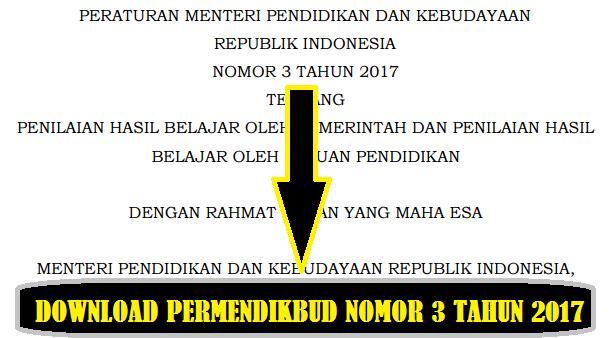 gambar download permendikbud nomor 3 tahun 2017