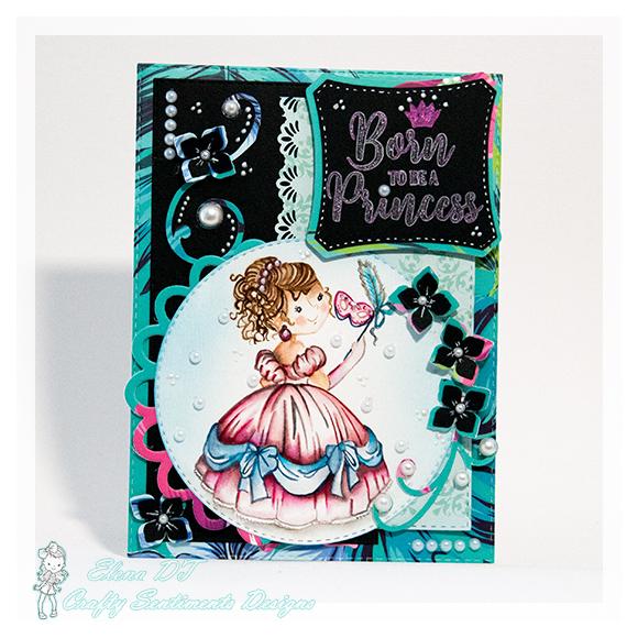 creativEle coloring PRINCESS MASK - LOLLIPOP