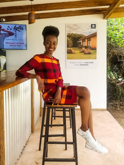 Wearing A Matching Two-Piece Set : Nakuru Vacation Outfit Two