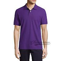 Kaos Polo Shirt Pria Warna Ungu
