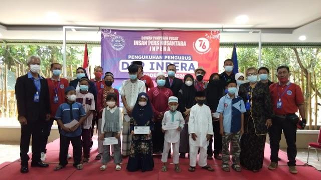 Pengukuhan DPP INPERA Sekaligus Santuni Anak Yatim Piatu