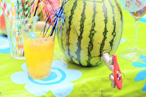 DIY: Meloen met kraan thuistap