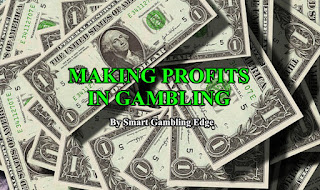 Making profits in gambling.