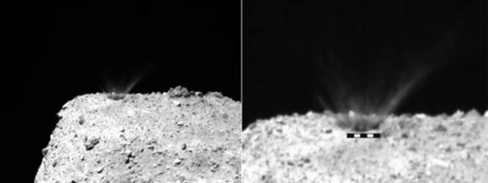 bala de canhão asteroide ryugu