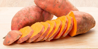 Sweet potatoes  to grow your hair faster and thicker