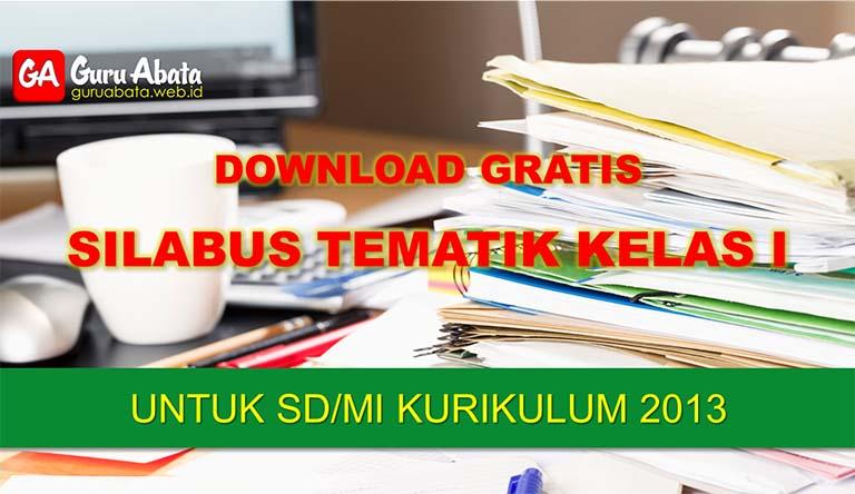 silabus sd kelas 1 kurikulum 2013 revisi terbaru