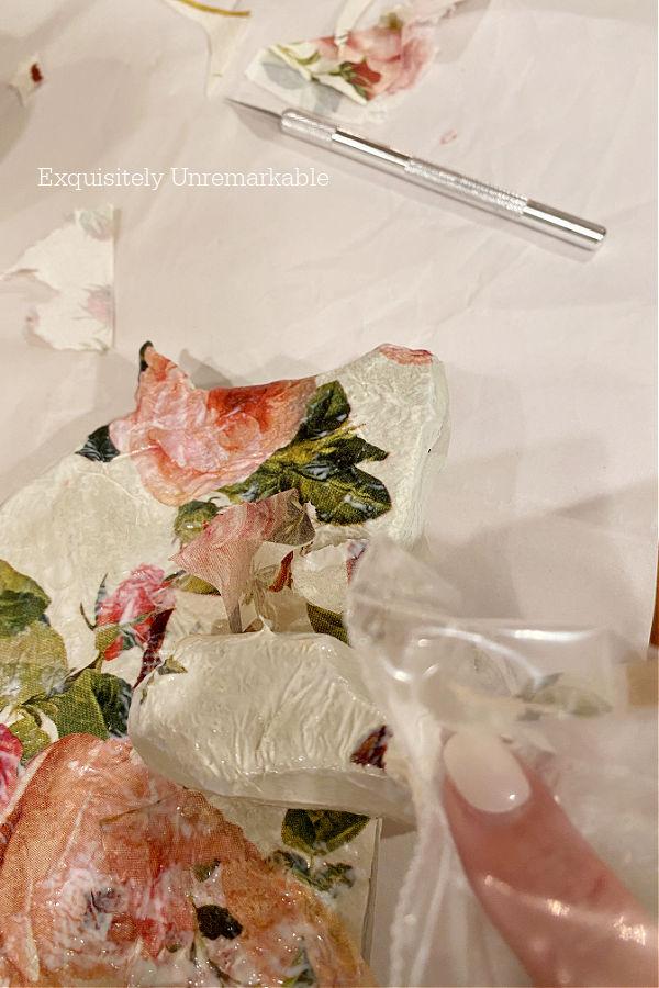Using Plastic Bag To Decoupage