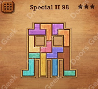 Cheats, Solutions, Walkthrough for Wood Block Puzzle Special II Level 98
