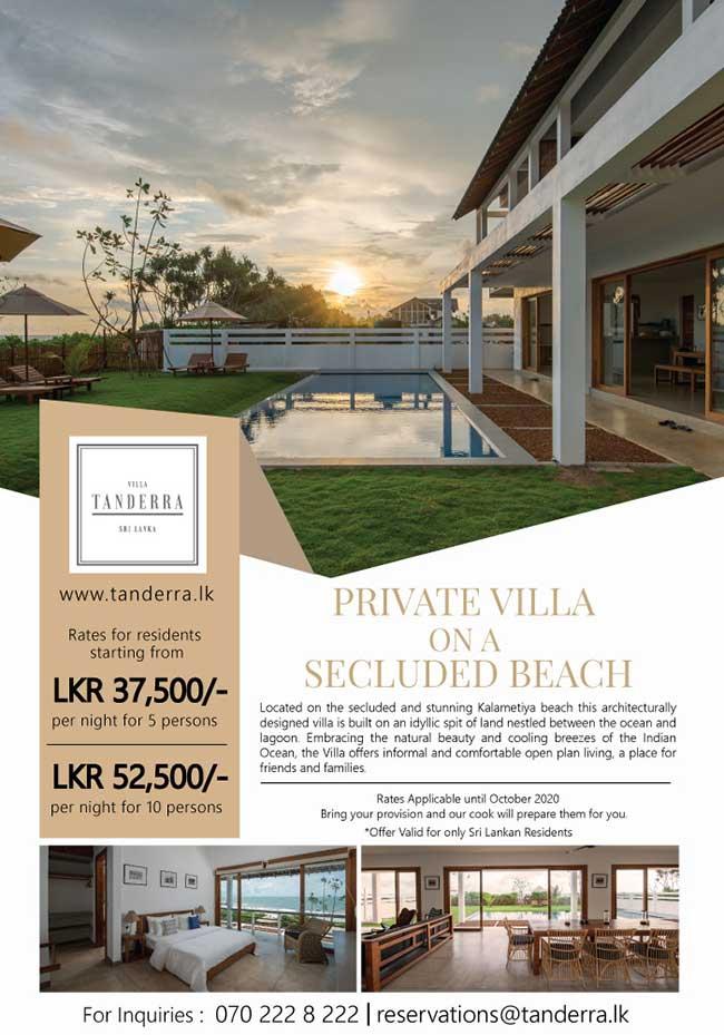 Villa Tanderra : Private villa on a secluded beach