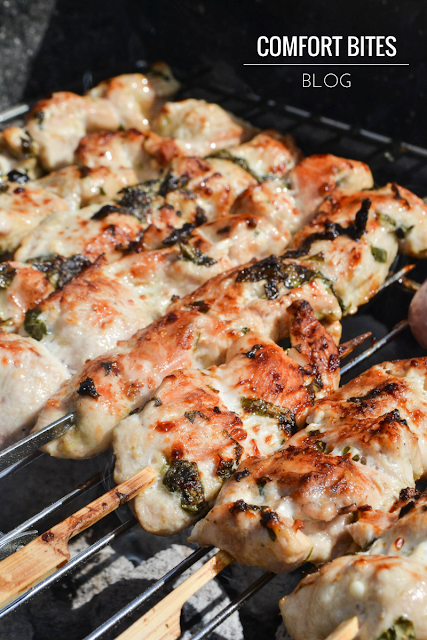 Chicken Strips with Basil and Lime - I Love My Barbecue Book
