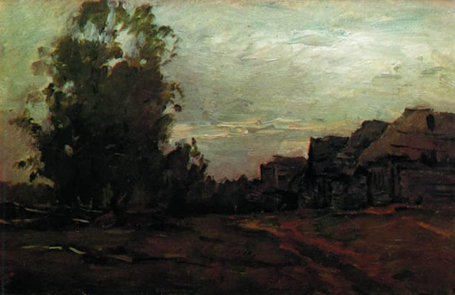 Исаак Ильич Левитан - Деревня. Сумерки. 1897