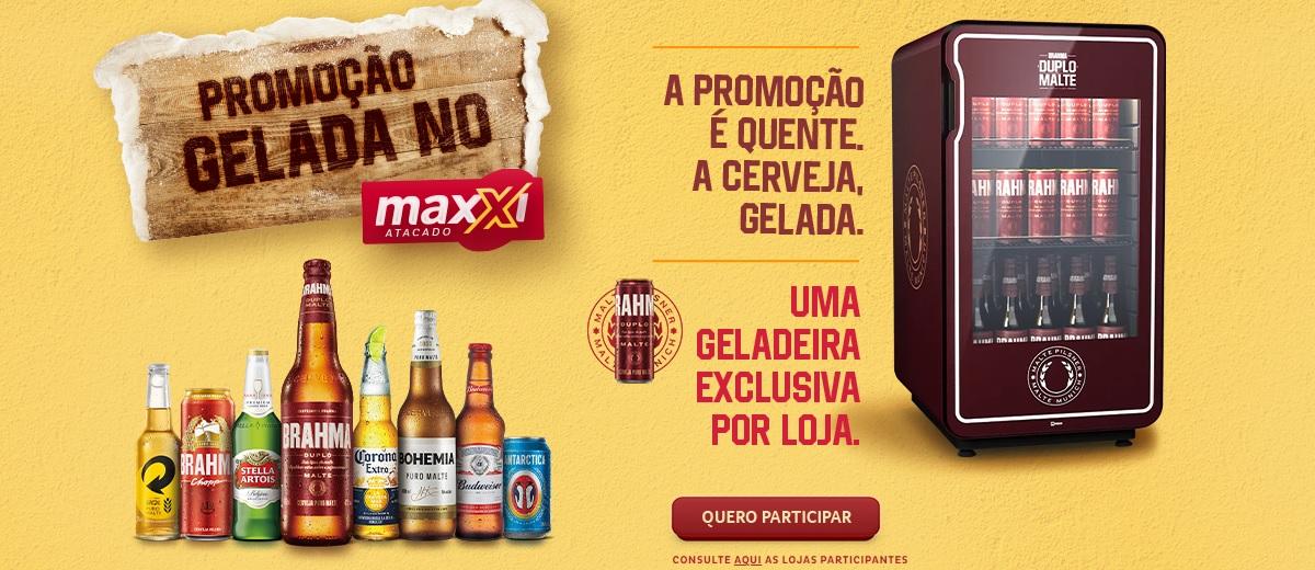 Promoção Gelada no MAXXI Atacado Geladeira Exclusiva Duplo Malte - Cadastrar