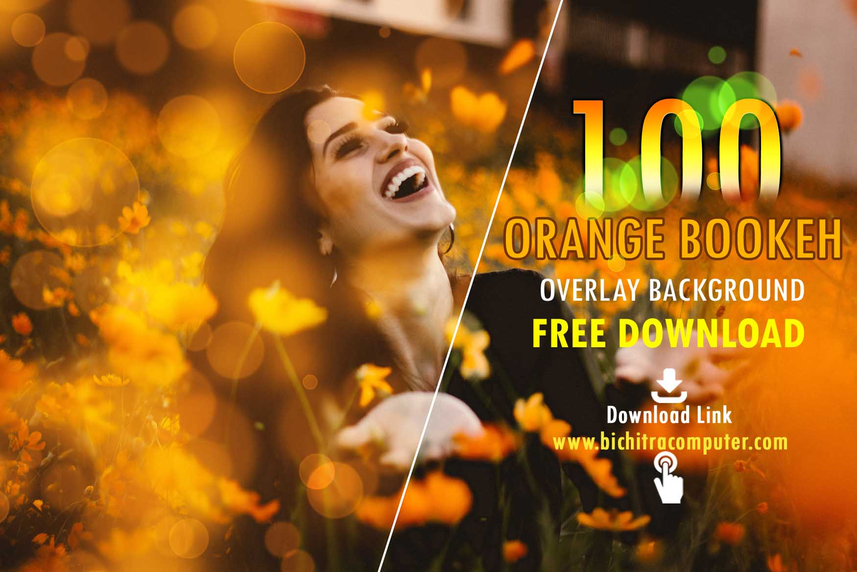 Orange Bokeh Overlays