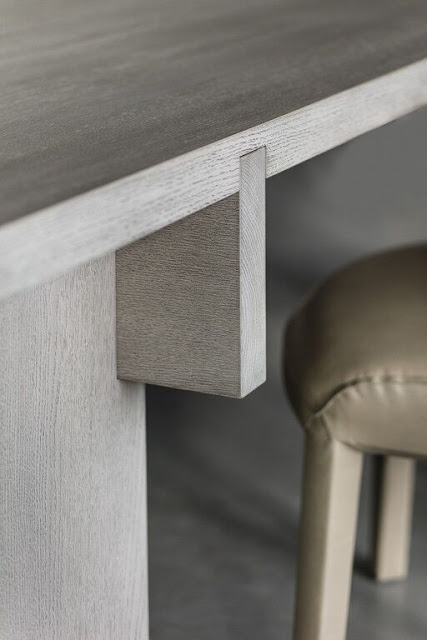 Piet Boon Studio detail of wood table bespoke design